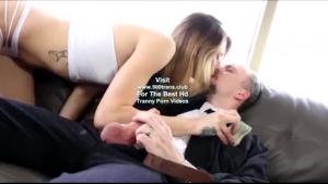Shemale cummed by her kinky husband
