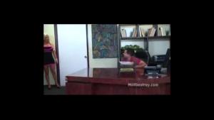 Seductive secretary fucked by her horny boss
