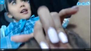 Astonishing busty euro cute fingering her pussy