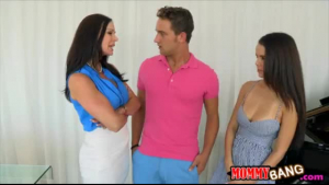 Dillion Harper and her new girlfriend are making love with each other, during a threesome