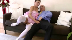 Smooth ebony honky titty beauty loves a hot blowjob from a British guy