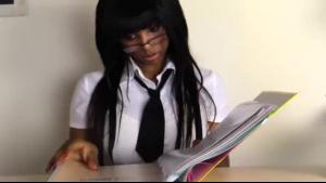 Ebony in schoolgirl schoolgirl