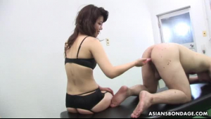 Blonde slut is wearing a strap- on while fucking a guy who is not her partner