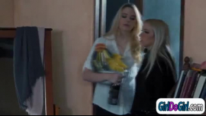 Petite teen, Magdalena was satisfying her boyfriend instead of doing her job for him