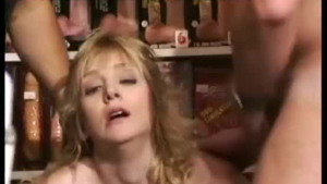 Naughty mature is lying on the chair, while she is getting her partner's huge tool