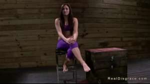 Small titted brunette, Alexis Texas got tied up just because she was on her knees and gave an ass