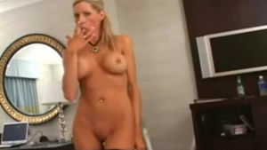Delila Starr is sucking big, black cock right after she took a nice shower