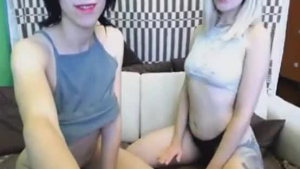 Horny lesbian ladies playing