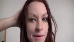 Redhead beauty gets face fucked