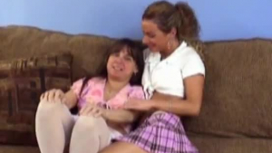 Sexy stepMILF teach teen some hot tricks