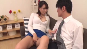 Sexy japanese mature fisting her gym pecker from under