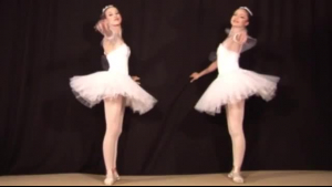 Young ballerina cream slapping on her perky muff
