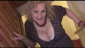 Busty mature stripping pantyhose