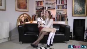 Lara Latex cutie spreading pussy at party