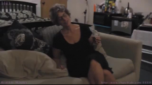 Blonde amateur granny is ready to get banged in a doggy- style position until she cums
