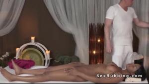 Massaging masseur fucking an old woman