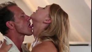 Blonde whore gets fingered after she sucks