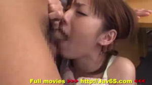 Lovely petite Asian doll sucking on dick before fingering it outdoors