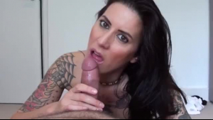 Sexy, tattooed chick fucks the mr
