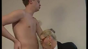 Awesome boss gets ass to mouth slammed by cock