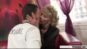 Mature woman and two young boys, Anabella and Ornella like the same blonde guy