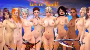 Nasty elf milf sucking white dick with bound nipples on leggy goddess