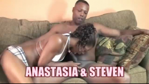 Black newbie agent gives a footjob