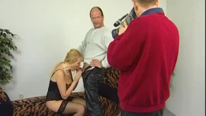 Nude brunette is gently fucking her favorite client, while both of them are wearing erotic lingerie