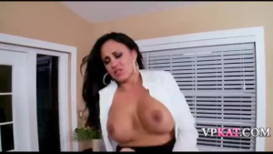 Sexy brunette gets her ass probed