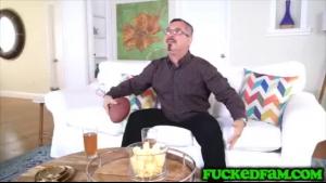Sexy Latina showing big natural boobs