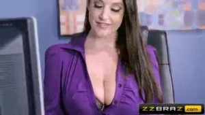 Slutty secretary with glasses got fucked in the office instead of doing her job, because she was horny