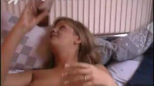 Real blondie with huge boobs gets tricked by a horny sleazy guy in POV
