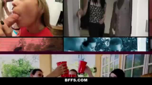 Three bitches are cheating on their partners and using sex toys to spice up every blowjob