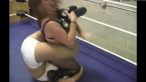 Wrestling agent being trained to train a female partner in sex stories, with handyman