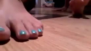 Big toe teen ass toyed and fucked