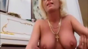 Mature blonde is a total whore, always trying new stuff, because it excites her more than anything