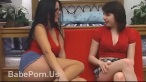 Two hot lesbian sluts taking dick