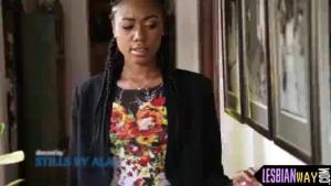 Beautiful ebony babe cumshot
