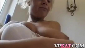 Dirty minded blonde slut sucked a stranger's dick and then got banged from the back, in return.