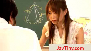 JAV standard female is blowjob clad, for you.