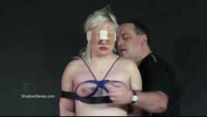 Blonde tortured for sex.