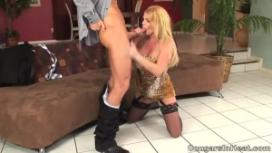 Hot young Cougar Kimber Lee got her Pussy fucked hard with those huge white dick by White Hart on top of them