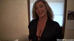 Robbery.Milf Cougar sucks his hunk BBC and gets choked & hosed from pussy