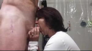 Dutch girls sucks huge cock