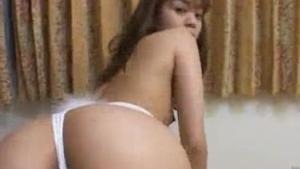 Asian princess boobyrubbing hairy cunt like wild.