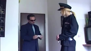 Skinny blonde fucking with some hot black guys