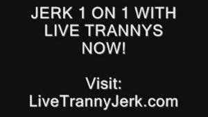 Sexy shemale tranny rammed.