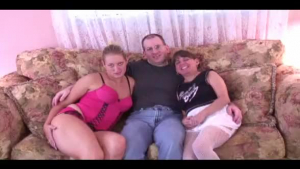 Hot girls are fucking in a public place in front of a fire place with their boss