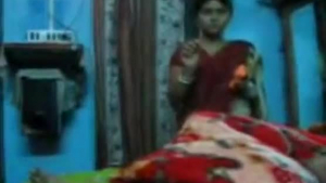 Indian husband riding his girlfriends friend muscle brother while waiting for saree