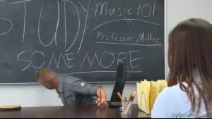 School teacher sucks dick while on phone with Angela Whites